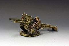 KING AND COUNTRY, DD204, 1/30, BRITISH 25 POUNDER FIELD GUN (BOXED)