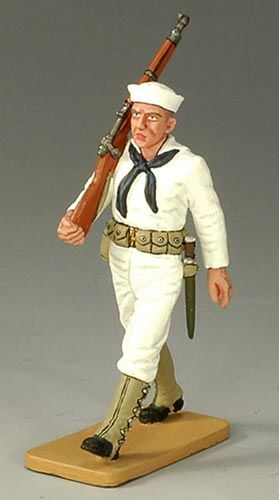 KING AND COUNTRY, USN005, 1/30, US SAILOR MARCHING (BOXED)