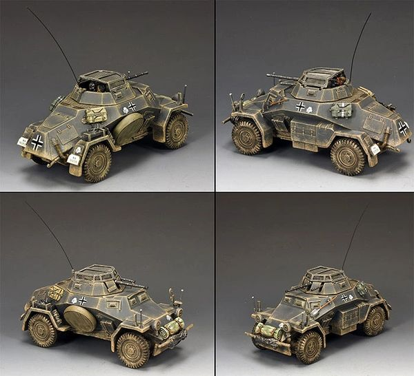 KING AND COUNTRY, WS209, 1/30, sdkfz 221 ARMOURED CAR (BOXED)