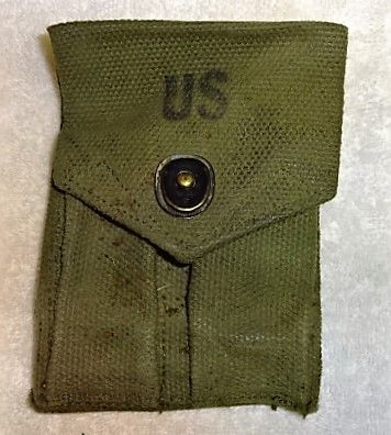 "US Ammunition Pouch for 1911 45 Auto, Post Viet Nam, marked ""US and ""D2'"