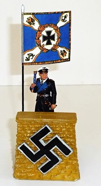 QUARTERMASTER CORP, REWST 3, 1/32 & 1/30, ADMIRAL DONITZ WITH REVIEW STAND, (FIGURE NOT INCLUDED)