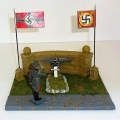 QUARTERMASTER CORP, QC5-GRAVE 1, 1/30, WEHRMACHT MEMORIAL GRAVE SITE (UNBOXED) FIGURE NOT INCLUDED