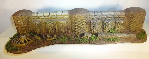 "QUARTERMASTER CORP, DIORAMA 05, 1/32 & 1/30, GABION WALL, 5"" X 11"", (UNBOXED)"