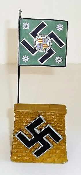 QUARTERMASTER CORP, REWST 3, 1 / 32 & 1/30, REVIEW STAND WITH GERMAN POLICE FLAG (UNBOXED)
