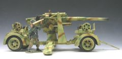 KING AND COUNTRY, WS055, WS056 + WS057 COMBO SET, 1/30, Waffen SS 88mm FLAK GUN AND CREW, (BOXED)