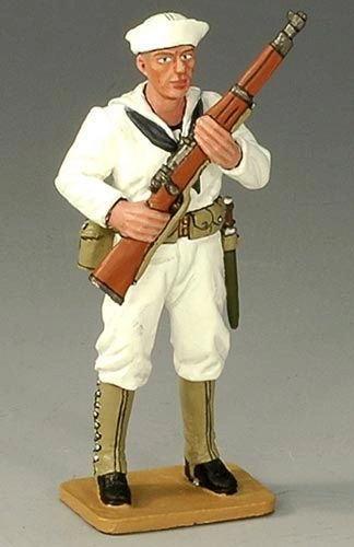 KING AND COUNTRY, USN008, 1/30, U S SAILOR AT PORT ARMS, (BOXED)