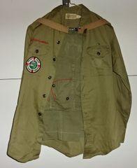 US PA-6 Troop 136, Complete Boy Scout Uniform, 1940's