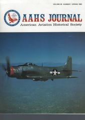 AAHS JOURNAL, AMERICAN AVIATION HISTORICAL SOCIETY, VOL. 28, NO. 1