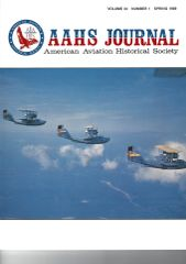 AAHS JOURNAL, AMERICAN AVIATION HISTORICAL SOCIETY, VOL. 34, NO. 1