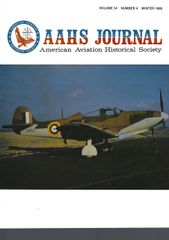 AAHS jOURNAL, AMERICAN AVIATION HISTORICAL SOCIETY, VOL. 34, NO.4