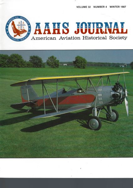 AAHS JOURNAL, AMERICAN AVIATION HISTORICAL SOCIETY, VOL. 32, NO. 4