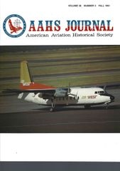 AAHS JOURNAL, AMERICAN AVIATION HISTORICAL SOCIETY, VOL. 36, NO. 3