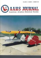 AAHS JOURNAL, AMERICAN AVIATION HISTORICAL SOCIETY, VOL. 38, NO. 2