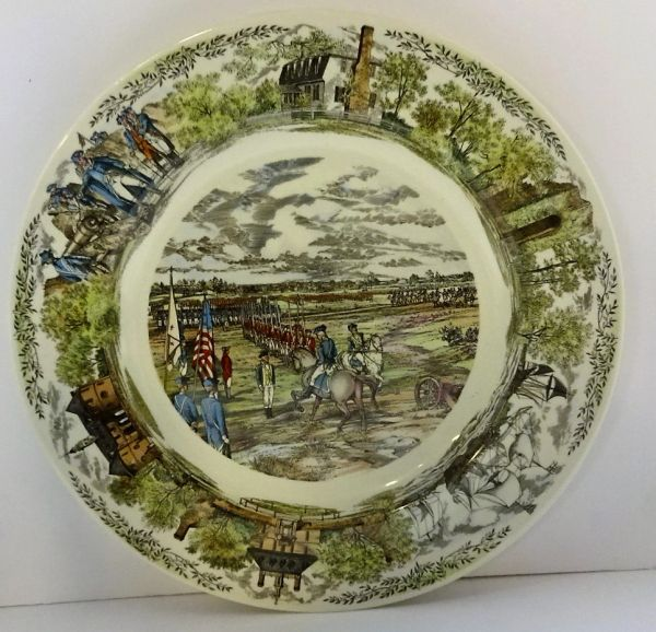 PLATE, WEDGEWOOD, YORKTOWN VIRGINIA COMMEMERATIVE