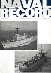 NAVAL RECORD, VOL. III, NO. 1