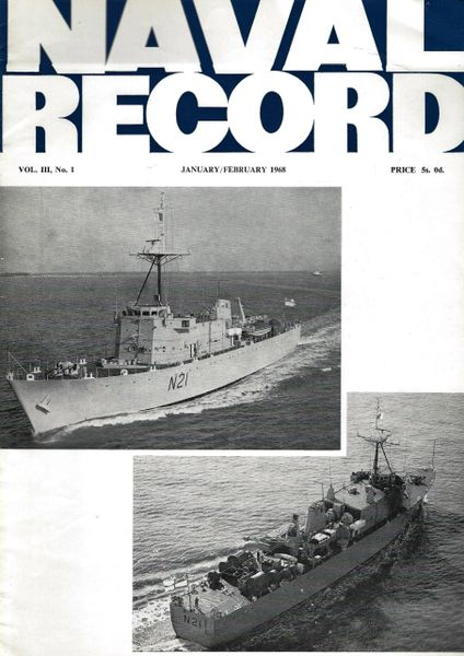 NAVAL RECORD, VOL. III, NO. 1