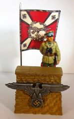 REVIEW STAND, REWST 1, 1/32 & 1/30,WITH WS034, ROMMEL, (BOXED) (GERMAN ARTILLERY FLAG)