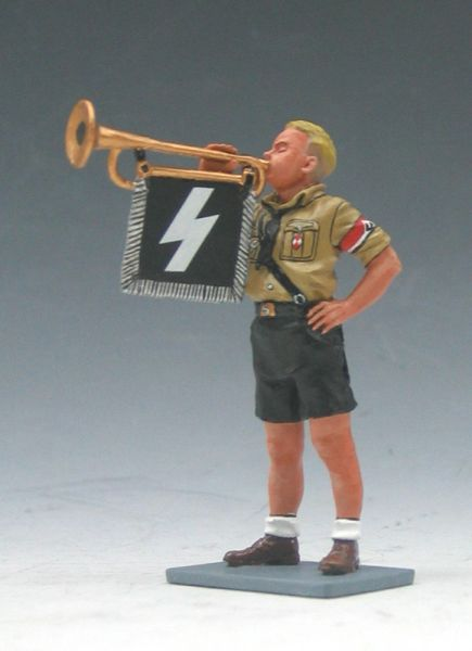 KING AND COUNTRY, LAH054, 1/30, HITLER JUGEND TRUMPTER, (BOXED) (3 AVAILABLE)