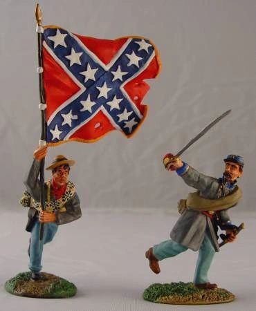 CONTE, ACW57104, 1/32, CONFEDERATE BATTLE FLAG BEARER SET, (BOXED)