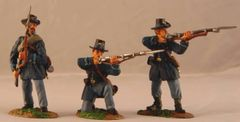 CONTE, ACW57117, 1/32, UNION IRON BRIGADE FIRING, (BOXED)