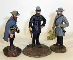 BRITAINS, WBCW332-334, 1/32, CONFEDERATE GENERALS PLANNING ATTACK, (UNBOXED)