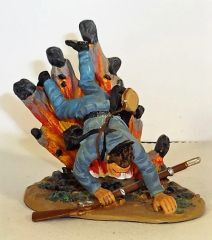 BRITAINS, 2001-14, 1/32, CONFEDERATE SOLDIER AND EXPLODING SHELL, (UNBOXED)