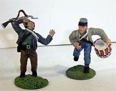 BRITAINS, 17109, 1/32, CONFEDERATE DRUMMER & SHOT, (BOXED)