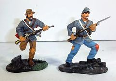 BRITAINS, 00279, 1/32, CONFEDERATE INFANTRY CHARGING, (BOXED)
