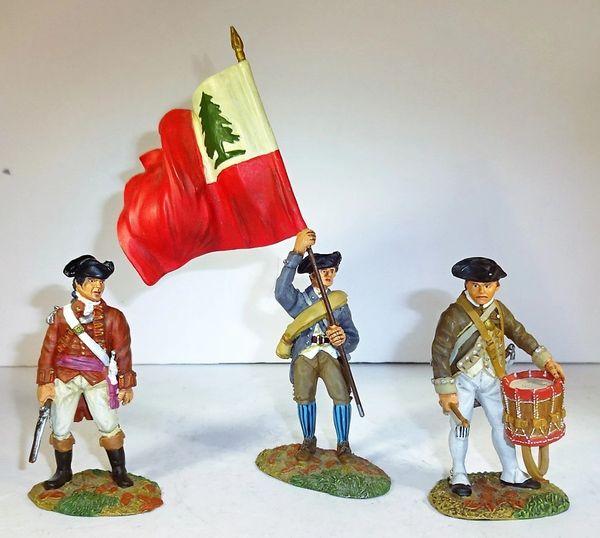 CONTE, REV001, 1/32 & 1/30, MILITIA, LIBERTY TREE FLAG, (BOXED)
