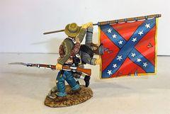 FRONTLINE, ACC1, 1/32, 1ST TEXAS REG'T. FLAG BEARER, (BOXED)