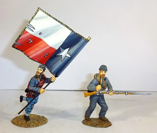 FRONTLINE, ACC1, 1/32, 1ST TEXAS REG'T, FLAG BEARER, (BOXED)