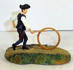 WILLIAMSBURG COLLECTIBLES, WB-02, 1/30, THE BOY WITH A HOOP, (BOXED)