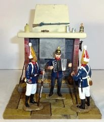 """QUARTERMASTER CORP, DIORAMA 09, 1/32 & 1/30, FIREPLACE 3"""" X 3 3/4"""" - FIGURES NOT INCLUDED, (UNBOXED)"""