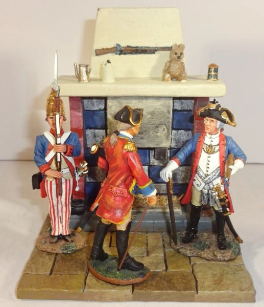 """QUARTERMASTER CORP, DIORAMA 10, 1/32 & 1/30, FIREPLACE 3"""" X 3 3/4"""", FIGURES NOT INCLUDED, (UNBOXED)"""