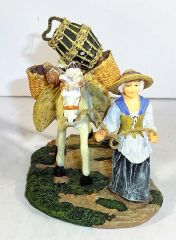 WILLIAMSBURG COLLECTIBLES, WB-07, 1/30, THE LADY PEDDERLY WITH HER HORSE, (BOXED)