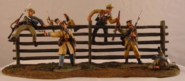 CONTE, ACW57112, 1/32, ANTETIUM CONFEDERATES AT THE FENCE, (BOXED) additional shipping applies