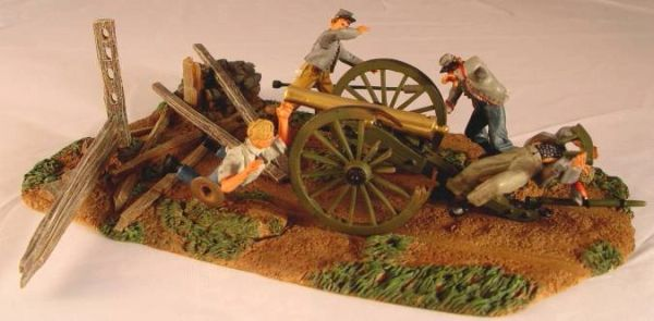 CONTE, ACW57147 1/32, CONFEDERATE ARTILLERYMAN UNDER FIRE, (BOXED)