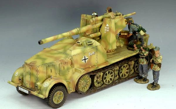 King and Country, WS103, 1/30, 88mm Flak 18, AufzugKraftwagen, (Boxed) additional shipping applies