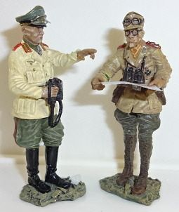 Collector Showcase, CS00237, 1/30, Rommel and Adjutant, (Boxed)