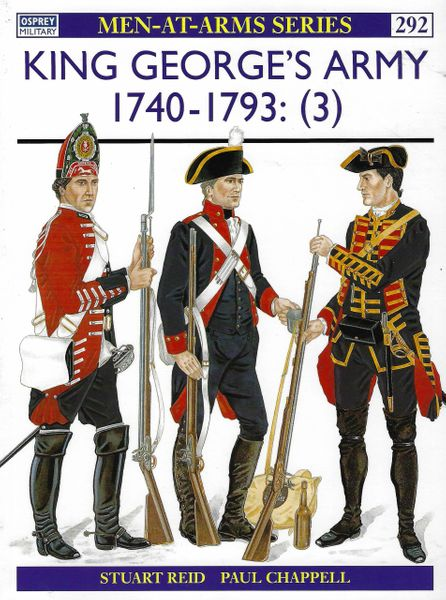 OSPREY, 1700'S,#292, KING GEORGE'S ARMY 1740-1793 (3)