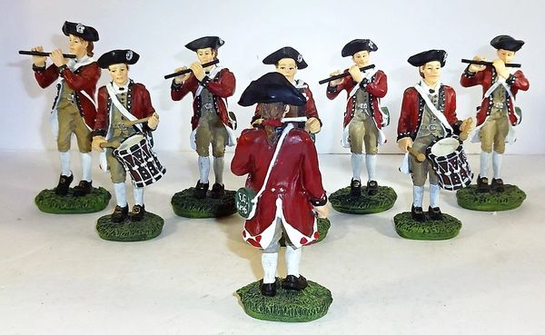 WILLIAMSBURG COLLECTIBLES, WB-11, 1/30, MILITARY BAND, (BOXED)