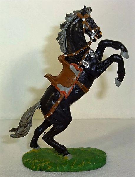 ELASTOLIN, 40MM, 8880-4, BLACK HORSE, (UNBOXED)