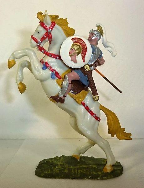 ELASTOLIN, 40MM, 8450-4, ROMAN ON 8880-4, WHITE HORSE, (UNBOXED)