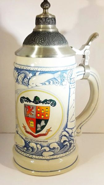BEER STEIN, 1/2 LT, RHODE ISLAND SCI CONVENTION, 2011, (BOXED)