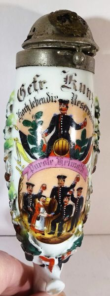 GERMAN REGIMENTAL PIPE BOWL, 117TH GROSSHESSIAN LEIB REGIMENT, 6TH COMPANY, GEFRIEDER KUNZ, CIRCA 1897-99