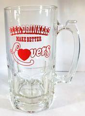 BEER MUG, 1 LT., LOVERS BEER DRINKERS