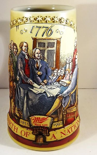 BEER MUG, 1/2 LT., MILLER BREWING CO. #53033, BIRTH OF A NATION, CIRCA 1992