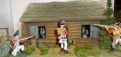 """QUARTERMASTER CORP, LOG CABIN 2, 1/32 & 1/30, (BASE 12""""X12"""", UNBOXED) SOLDIERS NOT INCUDED, additional shipping applies"""