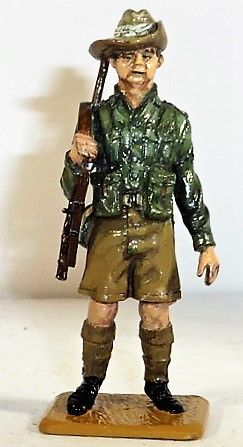 QUARTERMASTER CORP, 1/32, AUSTRALIAN INFANTRY, WWII, (UNBOXED)