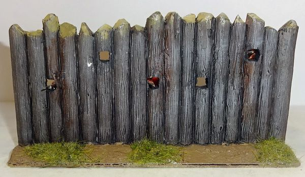 "QUARTERMASTER BLOCK HOUSE 6"" LG. WALL, 1/32 & 1/30, (CONTE & K&C SOLDIERS NOT INCLUDED) (UNBOXED) (3 AVAILABLE)"